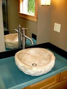 Colorado buff sandstone vessel sink