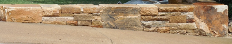 Dry laid wall, Colorado buff boulders