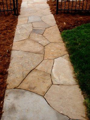 Colorado buff sandstone dry laid path
