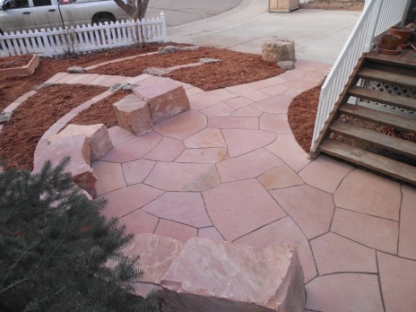Landscape built with Lyons red sandstone