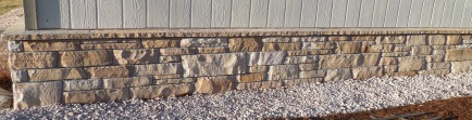 Colorado buff sandstone mortared skirt