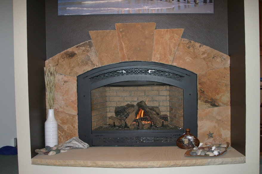 Colorado buff sandstone surround