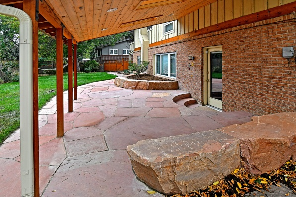 Landscape, Lyons red sandstone, design Kimmerjae Johnson - photo Russ Croop