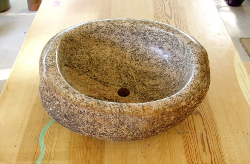 Granite river stone sink