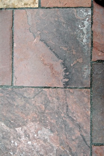 Lyons red sandstone patio detail - photo Russ Croop